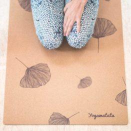 "tapis de yoga technique modèle ""Gingko"""