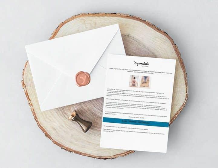 La carte cadeau Yogamatata, pour offrir un tapis de yoga ! #yoga