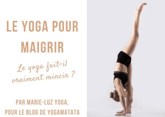 Le yoga fait-il mincir ? Le yoga est de plus en plus présenté comme un allié minceur, idéal pour vous aider à garder la ligne tout en menant une vie healthy. Mais qu'en est-il vraiment ? Faire du sport à la maison (ou en studio) est forcément bon pour la santé et se fait ressentir sur votre silhouette, mais est-ce que le yoga est pour autant une panacée minceur ? On vous dit tout sur le blog yoga de Yogamatata ! #yoga #minceur #maigrir #beauté #healthy #viesaine #bienetre