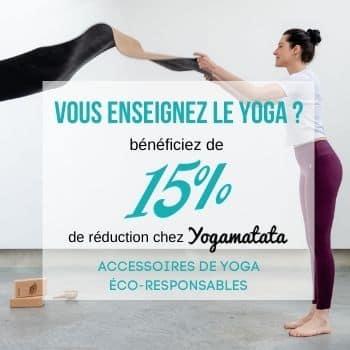 réduction enseignants de yoga yogamatata